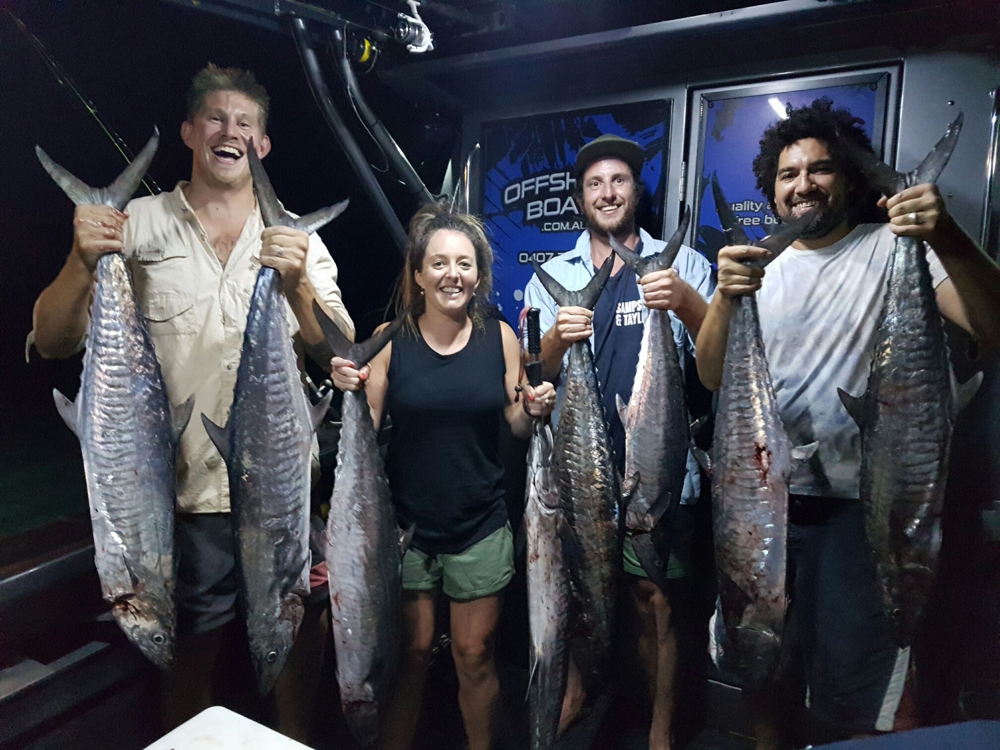 Spanish Mackerel with Offshore Boats | Darwin Fishing Charters
