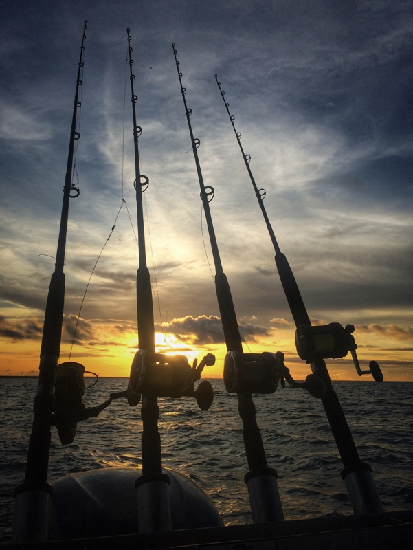 Sunset fishing aboard our Stabi!