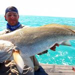 Black Jewfish with Offshore Boats - Darwin's Premier Reef & Sport FIshing Charters